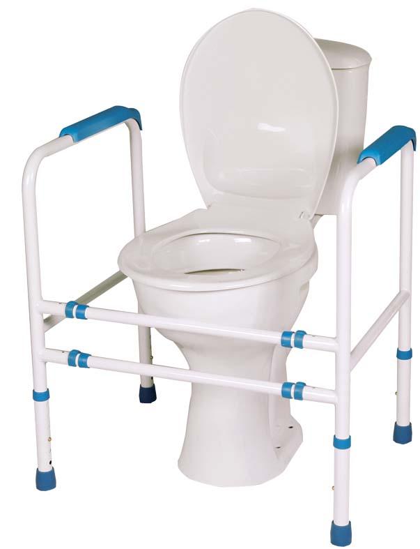 Podpěra na WC čtyřbodová (přenosné madlo k toaletní míse)