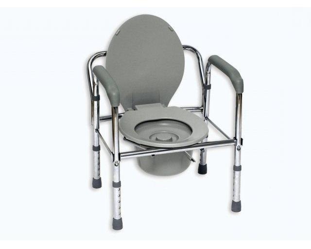 Toaletní křeslo nepojízdné JMC 5202 (Nastavitelné klozetové křeslo)