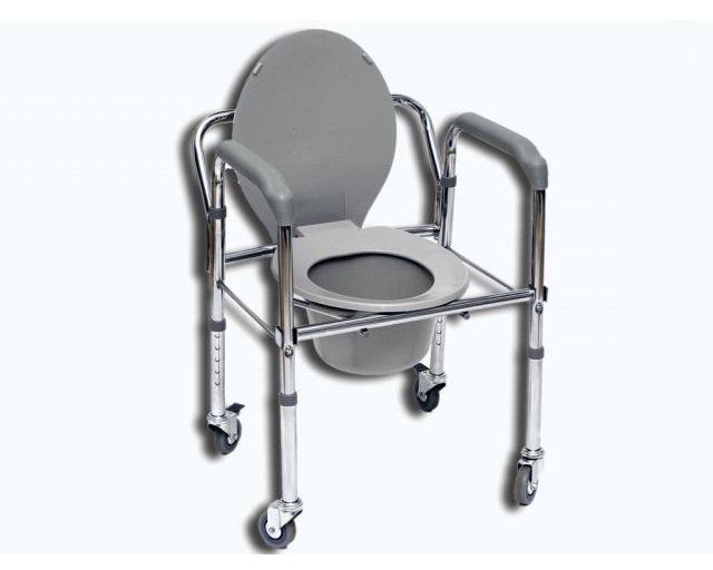 Toaletní křeslo pojízdné JMC 5202W (Nastavitelné klozetové křeslo)