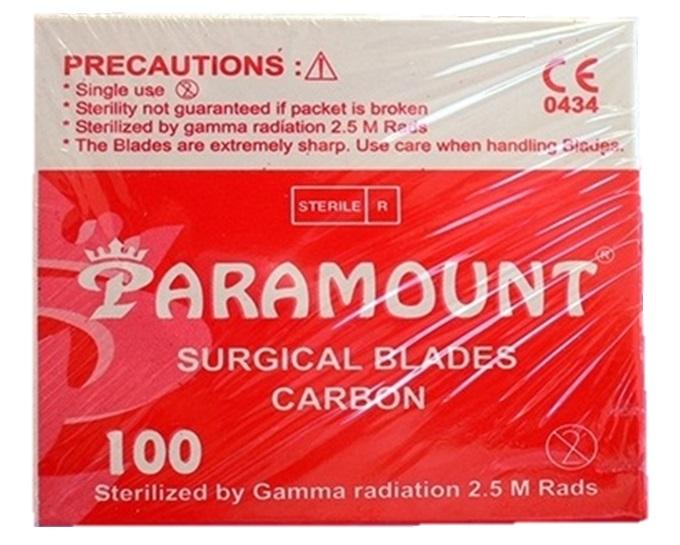 Čepelka skalpelová sterilní karbonová Paramount 100 ks