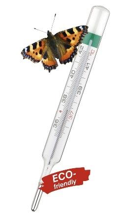 Teploměr skleněný Geratherm Classic (lékařský, bez rtuti)