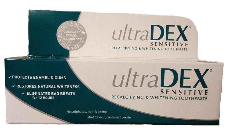 UltraDex remineralizační a bělící zubní pasta