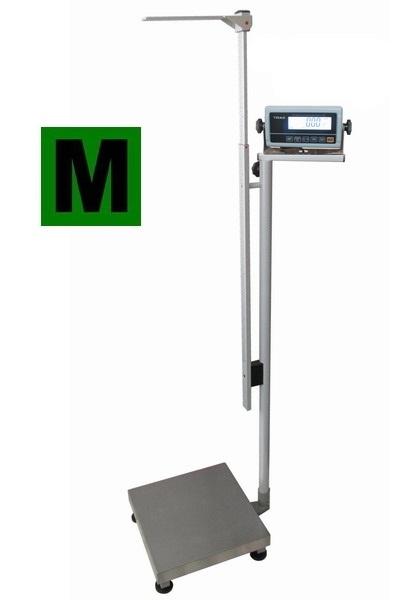 Osobní váha s výškoměrem, certifikovaná 1T4040LOV300-BASIC (Lékařská váha do 300 kg)