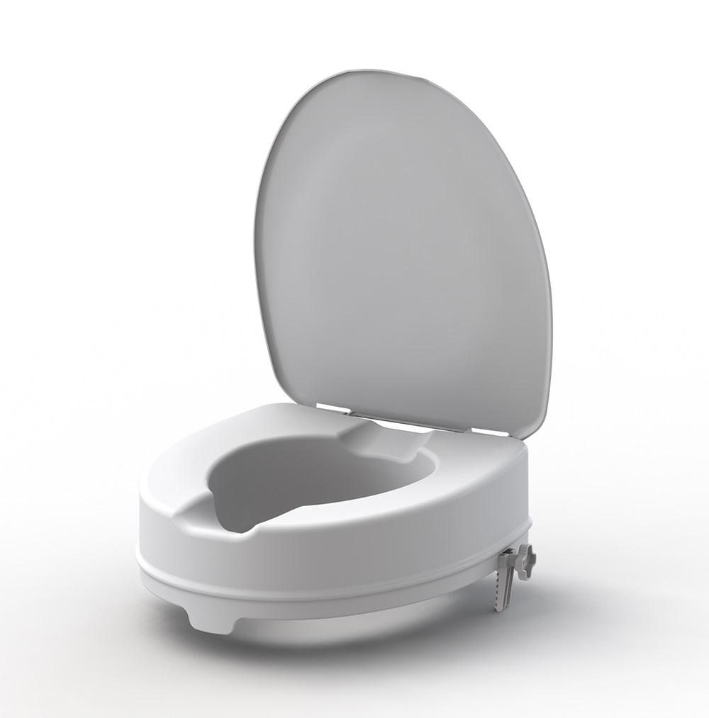 Nástavec na WC 10 cm s poklopem KING 10L