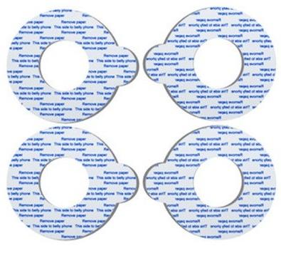 Hydrogelové kroužky Bellybuds 2 páry (náhradní kroužky pro těhotenský audio systém)