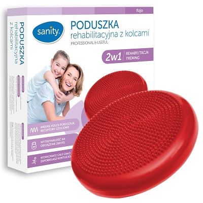 Podložka rehabilitační čočka Sanity - červená (Masážní sedací podložka s výstupky)