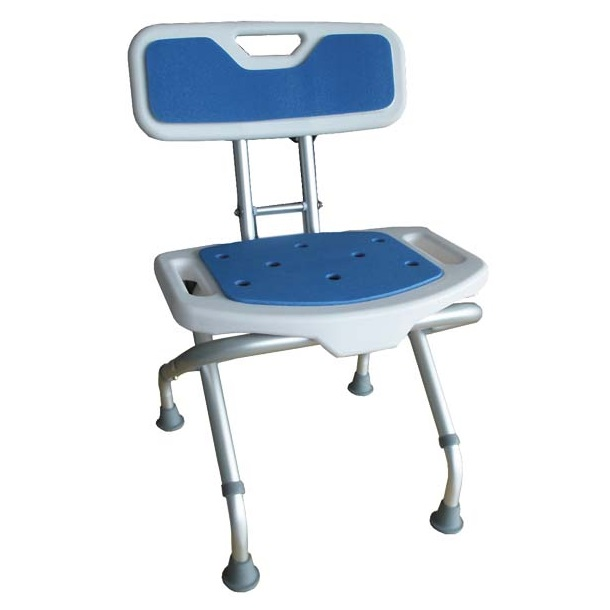 Sedačka do sprchy s opěradlem Blue 528015 (Výškově nastavitelná skládací stolička)